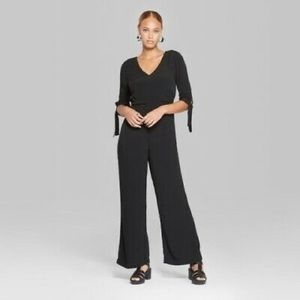 Wild Fable Black 3/4 Sleeves Jumpsuit